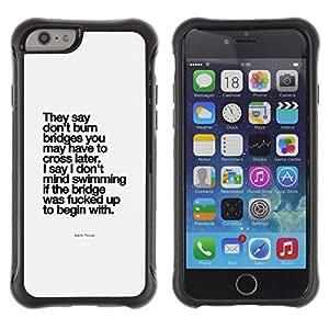 Fuerte Suave TPU GEL Caso Carcasa de Protección Funda para Apple Iphone 6 / Business Style motivational inspirational poster black