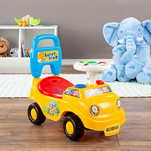 51nqD5VwAXL - Lil' Rider Ride On Activity Car- Toy Rideon Push Walking Car with Steering Wheel, Lights, Sounds, Music for Babies, Toddlers Learning to Walk