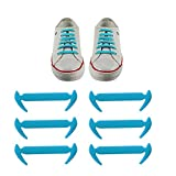 12pcs No Tie Shoelaces Elastic Shoe Laces for Sneakers Sport Shoes Silicone Flat Tieless Running Shoe Lacesfor Kids and Adults