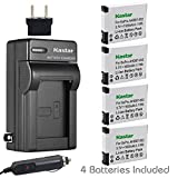 Kastar AHDBT-002 Battery (4-Pack) and Charger Kit for GoPro AHDBT-001 - AHDBT-002 work with GoPro HD HERO1 - HERO2 - GoPro Original HD HERO Cameras