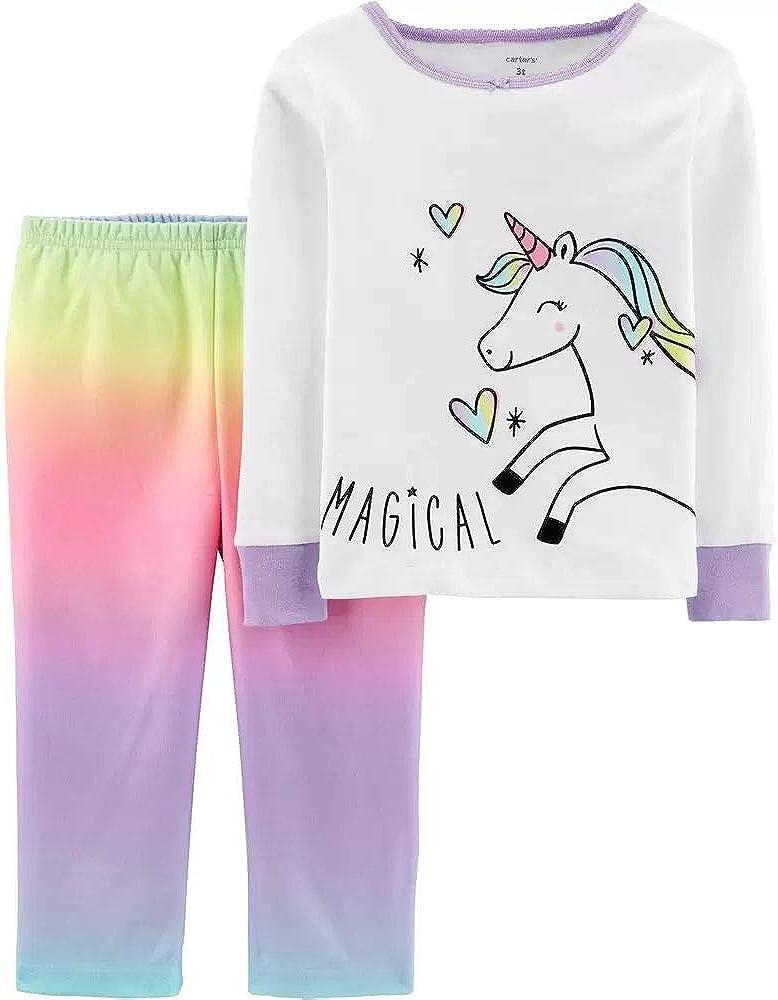 Carters Pijama de 2 piezas para niña de algodón y forro ...