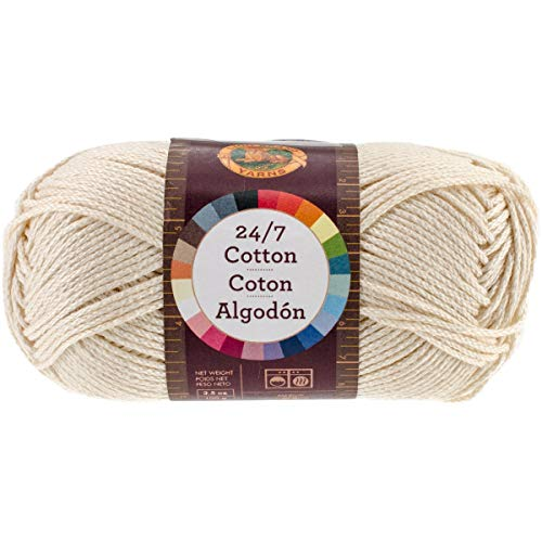 Solid Yarn Grass - Lion Brand Yarn 761-098 24-7 Cotton Yarn, Ecru