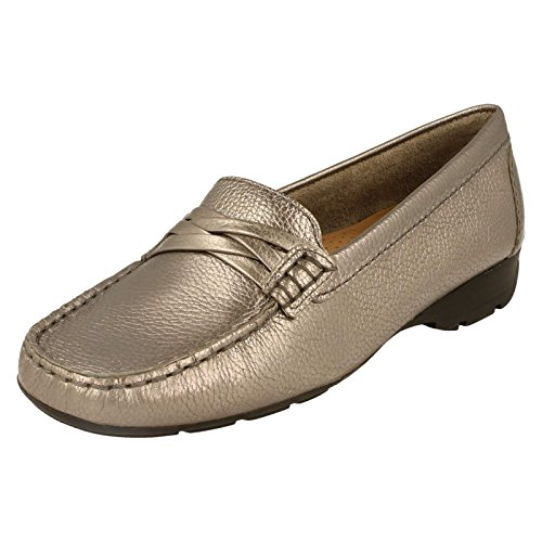 Globo Ladies Leather Shoes Ascot Metalic EgI0WSS