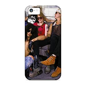 New Customized Design Guns N Roses For Iphone 5c Cases Comfortable For Lovers And Friends For Christmas Gifts
