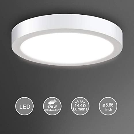 Amazon.com: Lámpara de techo LED, Blanco, 18.00watts, 110.00 ...