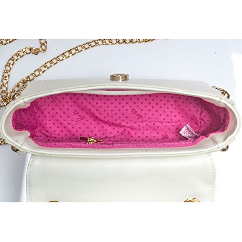 Barbie BBFB533 Bolso bandorela con asas de Estilo moderno y fino Bolso bolera para mujer blanco