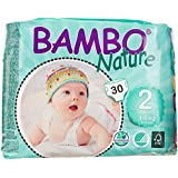 Bambo Nature Premium Baby Diapers, Mini, Size 2, 30 Count (Pack of 6) (One Month Supply)