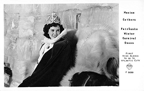 Frasher Miss Alaska Carnival Queen Real Photo Antique Postcard K35560