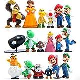 "18 Piece Super Mario Bros Super Mary Princess, Turtle, Mushroom, Orangutan, Super Mary Action Figures, 2"""