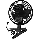 CZ6C - 6 Clip-On Fan, Black, with power cord (electric)