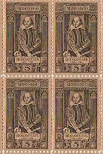 Amazon Com William Shakespeare Set Of 4 X 5 Cent Us