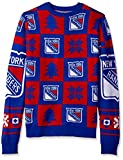 ny rangers crewneck - FOCO New York Rangers 2016 Patches Ugly Crew Neck Sweater - Mens Large
