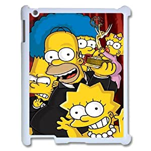 WJHSSB Diy case The Simpsons customized Hard Plastic Case For IPad 2,3,4 [Pattern-6]