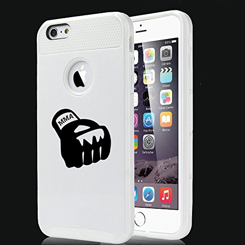 For Apple (iPhone 8) Shockproof Impact Hard Soft Case Cover MMA Boxing Glove (White)
