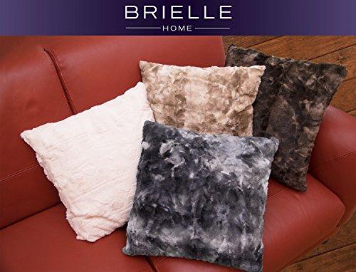 Brielle Faux Fur Decorative Pillow with Down Alternative Fil