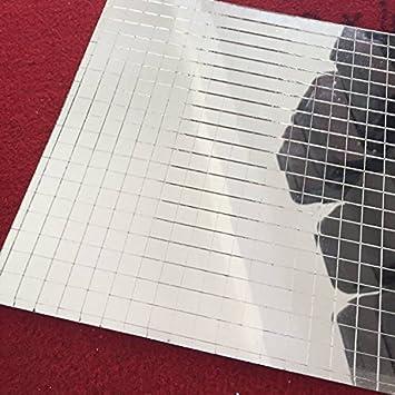 Amazoncom Glass Mosaic Tile Mini Square Glass Mosaic Mirror Sheet