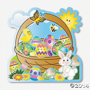 Egg-Cellent Make-An-Easter-Basket Sticker Scenes/Easter Decorations/Sticker Crafts