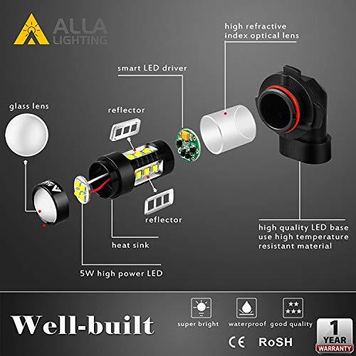 Alla Lighting 2504 PSX24W LED Fog Light Bulbs Super Bright PSX24W LED Bulb High Power 50W 12V LED PSX24W Bulb for 12276 2504 PSX24W Fog Light Bulbs Replacement, 6000K Xenon White (Set of 2) by Alla Lighting (Image #4)