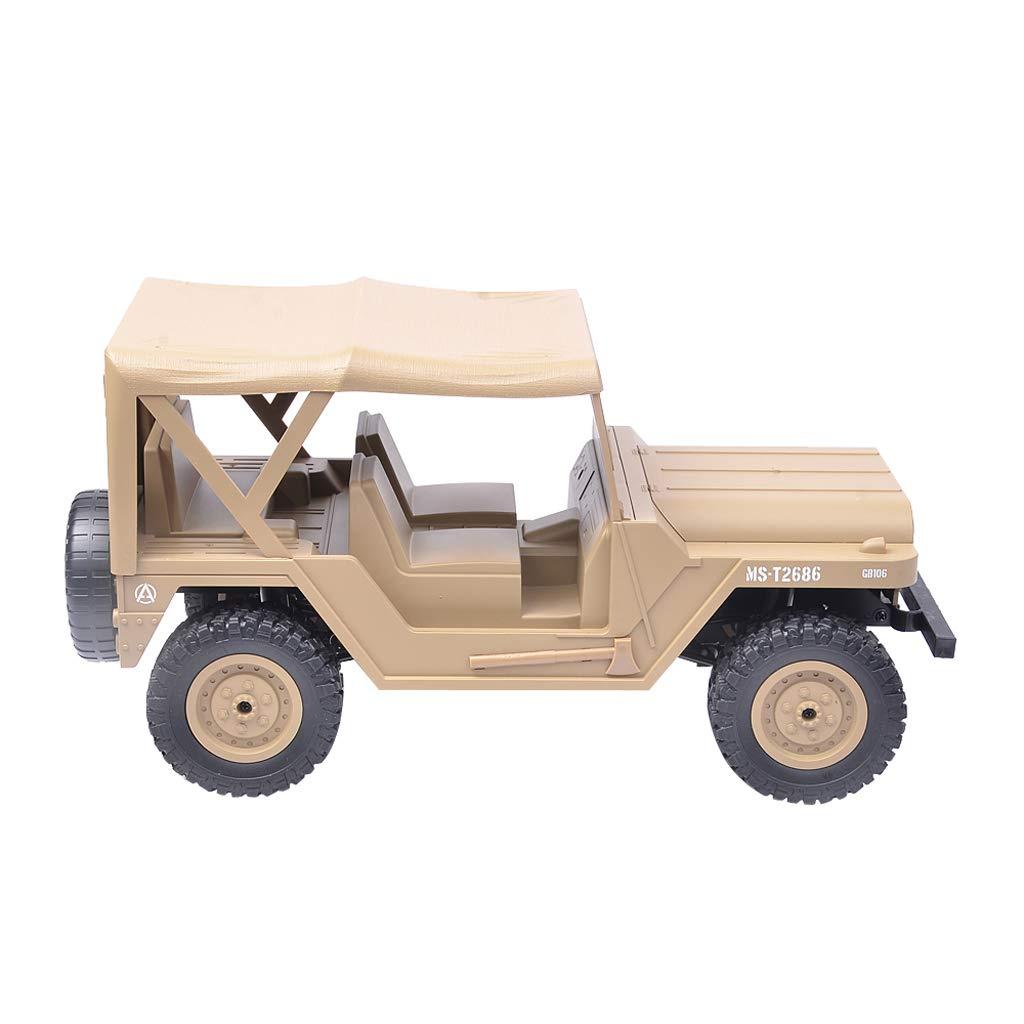 Fenteer 1 14 M151 Jeep 4WD RC Rocking Truck Rock Crawler Truck Giocattoli Jeep Elettrica Bambini - Giallo
