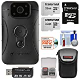 Transcend DrivePro Body 10 1080p HD Video Camera Camcorder with (2) 32GB Cards