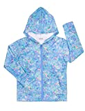 JK Unicorn Girls Hoodie Bomber Jacket Blue Print Long Sleeve Full Zip Pocket Coat Outwear Blue 14-16