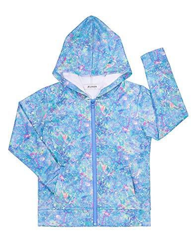 JK Unicorn Hoodie for Girls Zip Up Halloween Costume with Pockets Blue 140 -
