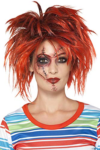 Chucky Makeup Kit Black & Red With Makeup Brush Tattoo & Transfers ()
