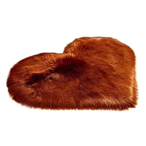 USLovee3000 Clearance Wool Imitation Sheepskin Rugs Faux Fur Non Slip Bedroom Shaggy Carpet Mats ()