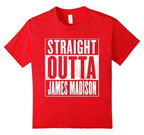 Kids Straight Outta James Madison T-Shirt 4 Red