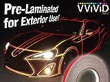 VViViD Reflective Fine Line Detail Tape Stripe 1cm x 3m Prelaminated for Interior/Exterior Use (Red)