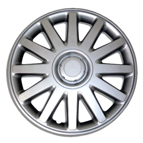 TuningPros WSC-610S16 Hubcaps Wheel Skin Cover 16-Inches Silver Set of 4