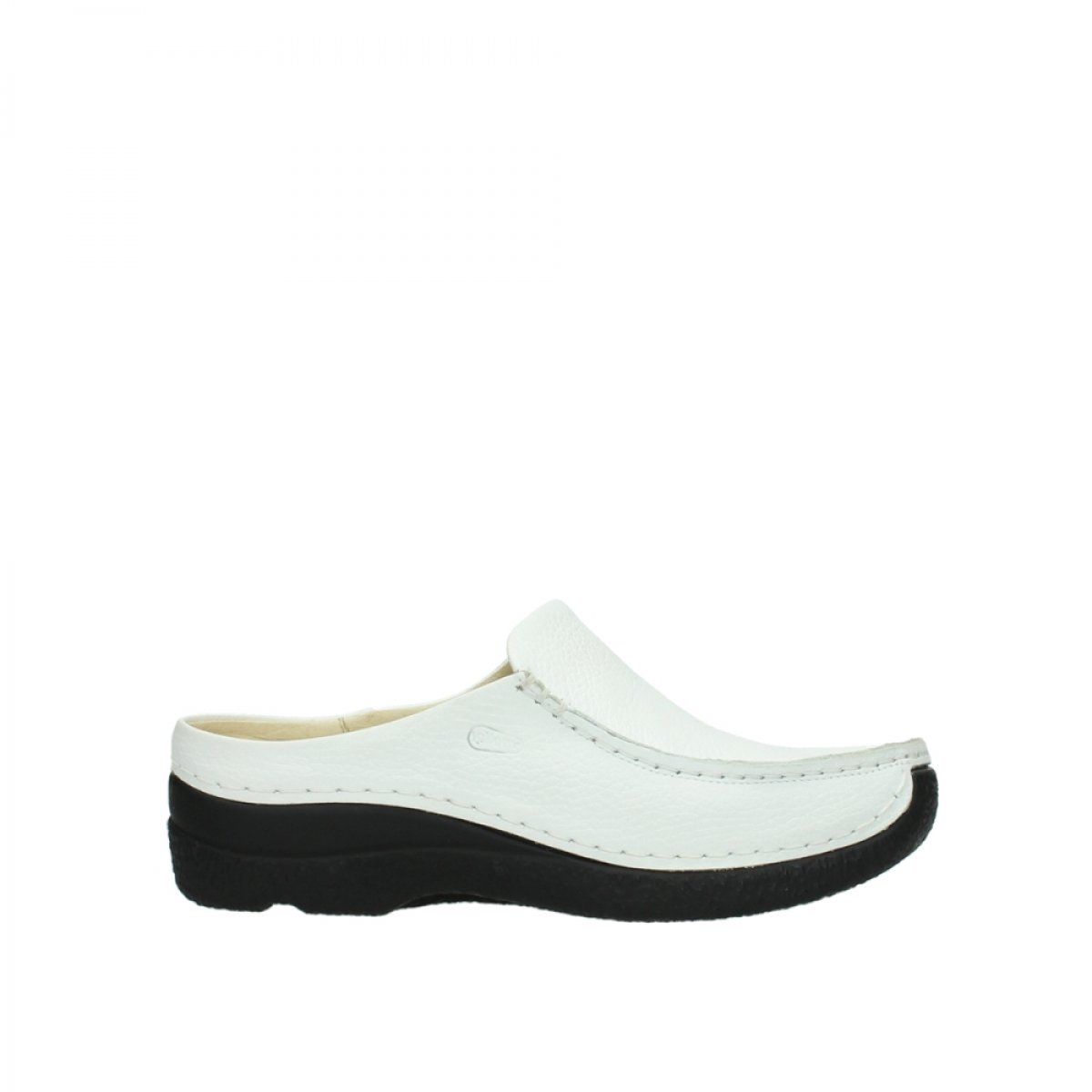 wolky Roll Slipper 6250 seamy Slide 40 EU|70100 White Printed Leather