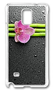 Adorable Flower Bamboo Hard Case Protective Shell Cell Phone Samsung Galaxy Note3 - PC Transparent