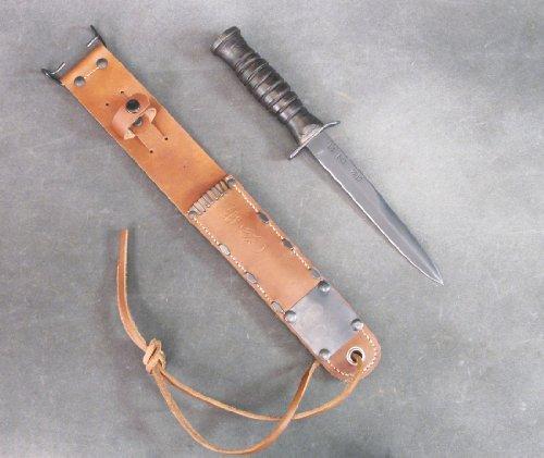 U.S. WWII M3 Fighting Knife & M6 Leather Scabbard