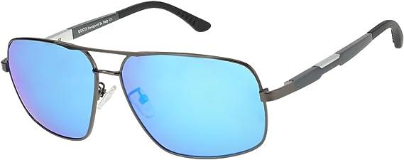 Duco Cadre carré rétro Premium 100% protection contre les UV 3379 lunettes de soleil polarisées