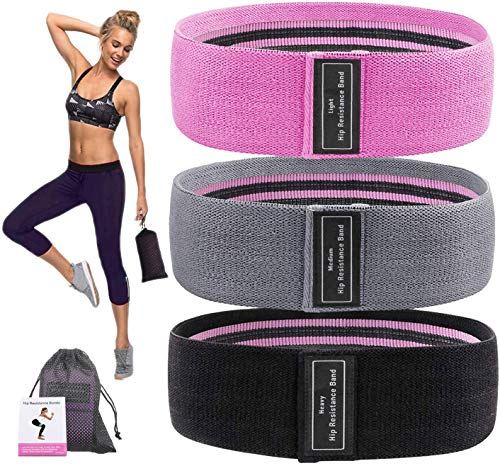 Supplim Resistance Bands for Legs and Butt,Exercise Bands Set Booty Bands Hip Bands Wide Workout Bands Loop Bands Anti…