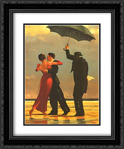 - The Singing Butler 2X Matted 16x20 Black Ornate Framed Art Print by Jack Vettriano