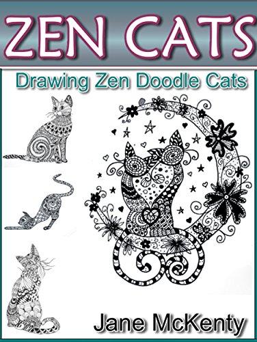 ZEN Cats Drawing Amazing Zen Doodle Art Book 3 By