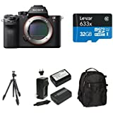 Sony a7R II Full-Frame Mirrorless Interchangeable Lens Camera, Body Only Deluxe Bundle