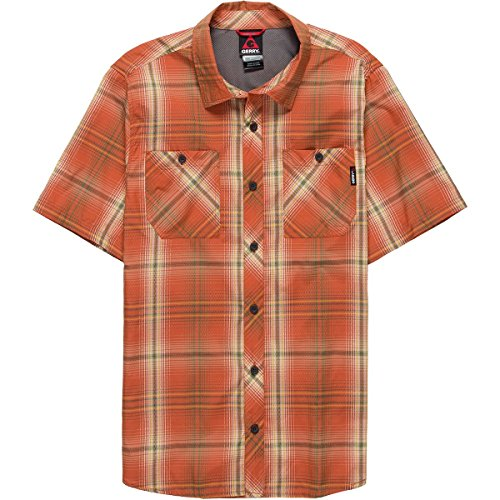 Gerry Plaid Insight Travel Short-Sleeve Shirt - Men's Orange Plaid, L