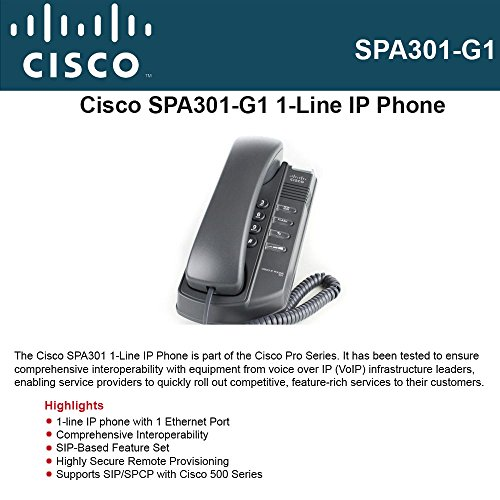 Cisco Unified Communications 500 Series 1-Line IP Phone, SIP or SPCP, SPA 9000 Voice, Hosted IP Telephony (SPA (Cisco Sip Phones)