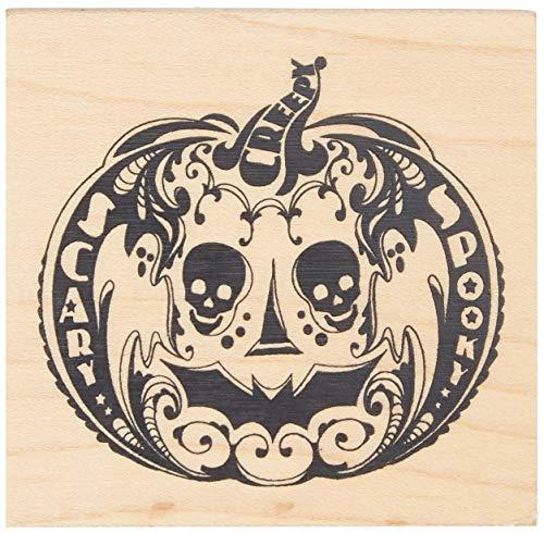Inkadinkado Mindscape Pumpkin Wood Stamp_60-01046 -