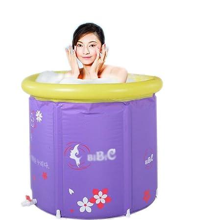 AJZGF Bañera Hinchable Plegable para Adultos Barril baño ...