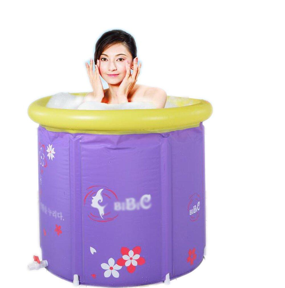 LXJYMX Faltbare aufblasbare Badewanne für Erwachsene - Tragbare Badewanne (größe   65  65cm)