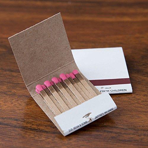 (50 Plain White Matches Matchbooks Wedding, Birthday etc)