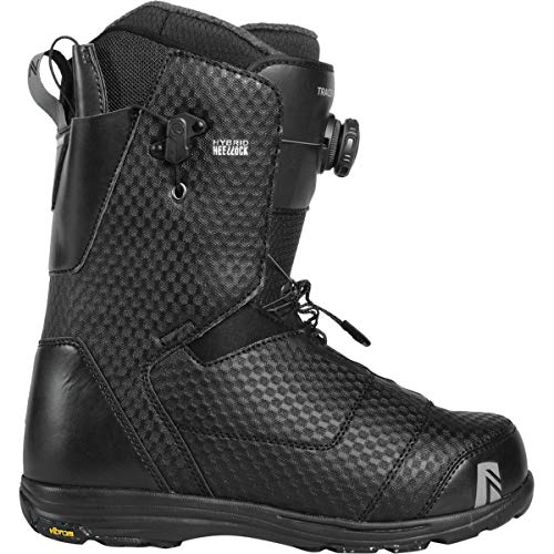 Boots Snowboard Boa Lock - Nidecker x Flow Tracer Boa Heel-Lock Coiler Snowboard Boot - Men's Black, 13.0