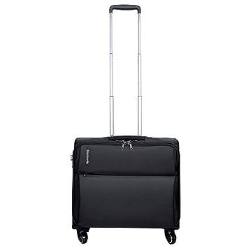 Maletín para computadora portátil con Ruedas para maletín de 18 Pulgadas Maquetes de Viaje compactos para Noche Maletín Impermeable y Resistente al ...