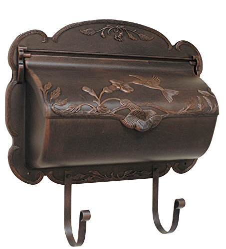 Hummingbird Horizontal Mailbox in Copper (Verde (Copper Verde Cast)