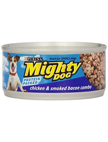 Mighty Dog Chicken & Smoked Bacon Combo Dog Food, 5.5 oz