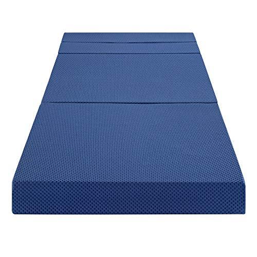 Ecos Living 4 Inch Tri-Folding Memory Foam Mattress/Sofa Bed (Twin XL)